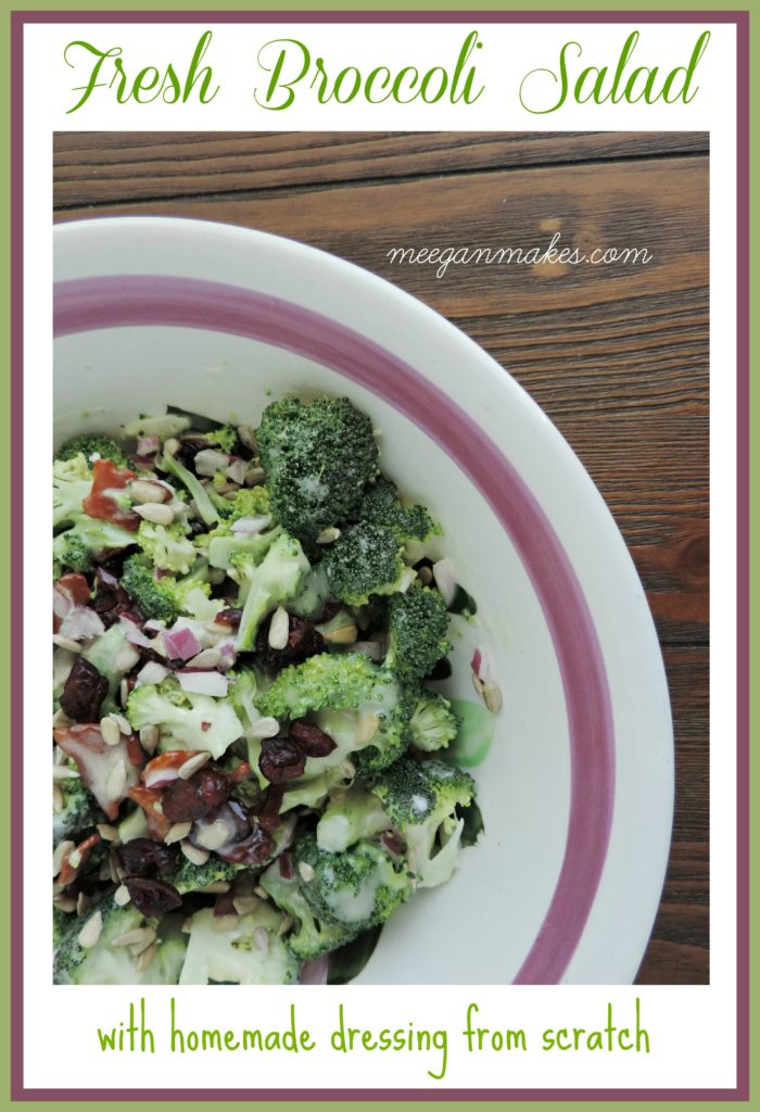Fresh Broccoli Salad With Homemade Dressing From Scratch