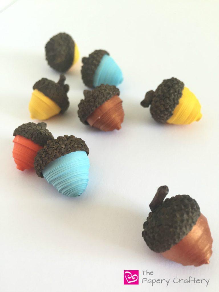 Multi-colored-Quilling-Paper-Acorns-768x1024
