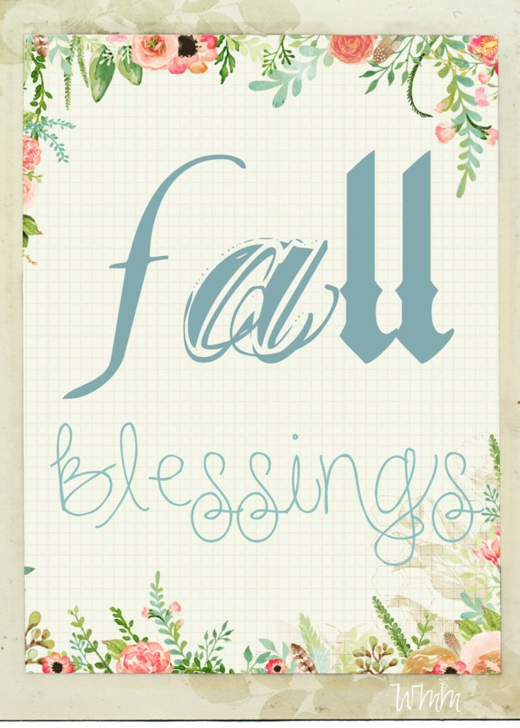 Fall Blessings Printable