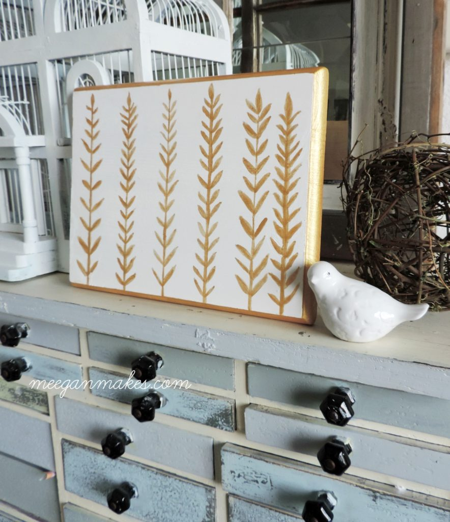 diy-feather-gold-art