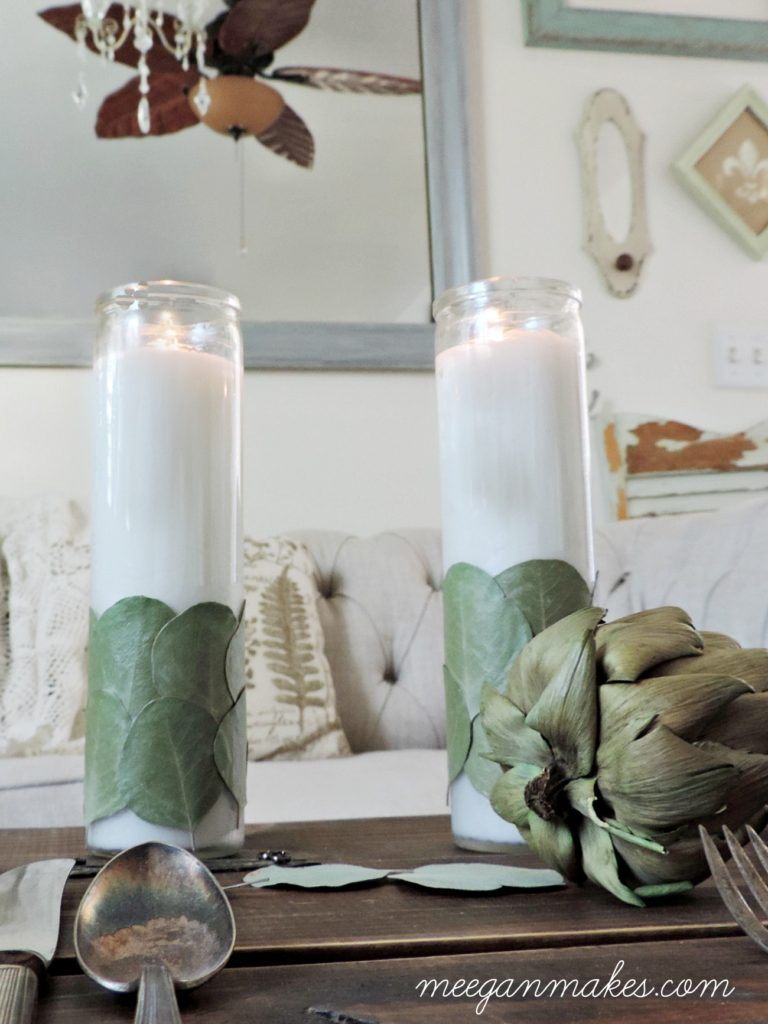 diy-eucalyptus-candles-made-with-dollar-store-candles