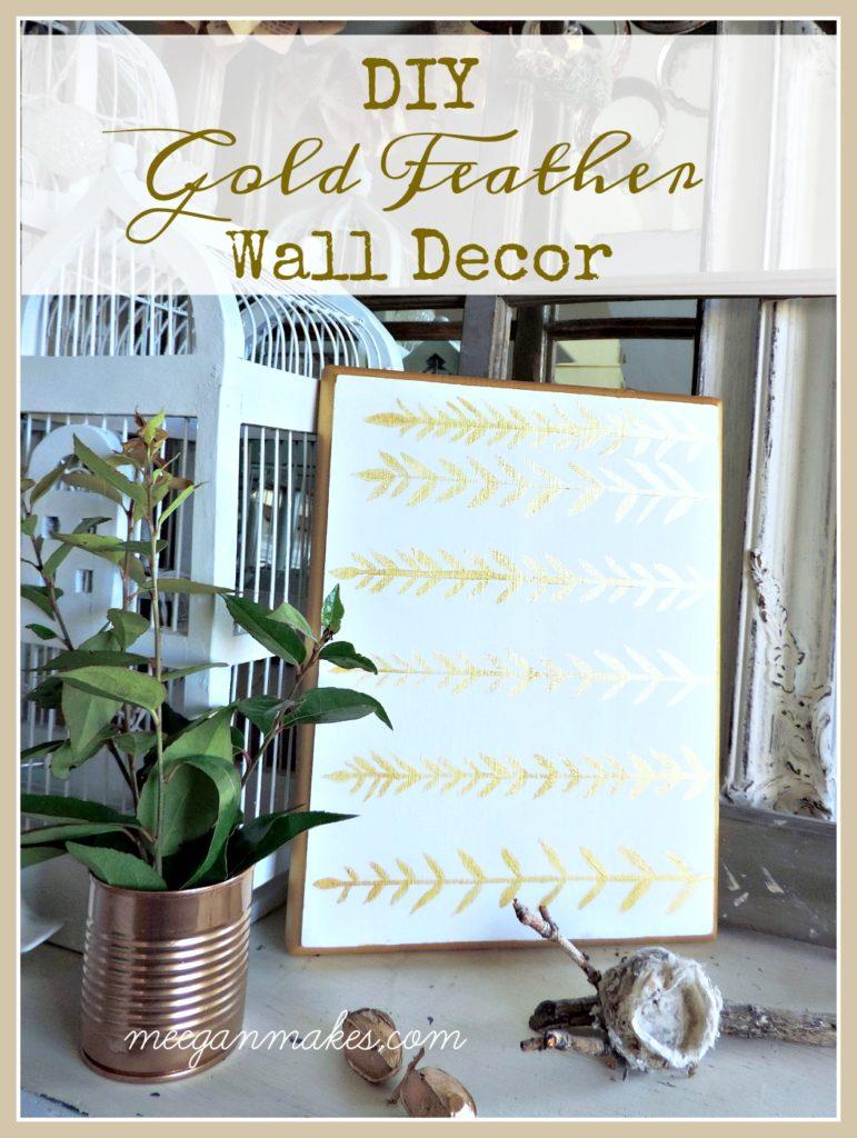 Gold Wall Decor Diy : Diy gold fall wall decor what meegan makes