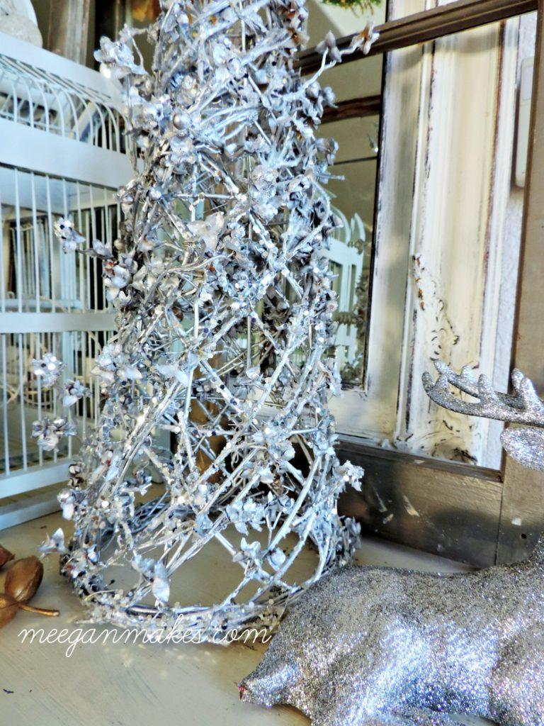 Diy Silver Christmas Tree What Meegan Makes