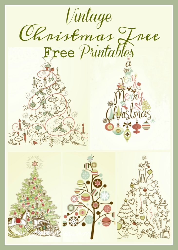 picture regarding Free Printable Christmas Tree titled 5 Traditional Xmas Tree Printables