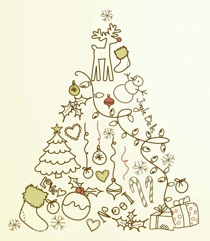 christmas tree vintage printable by meeganmakescom