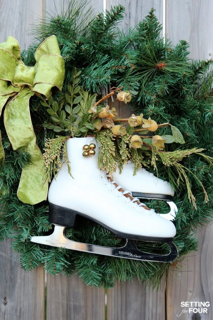 diy-ice-skate-wreath