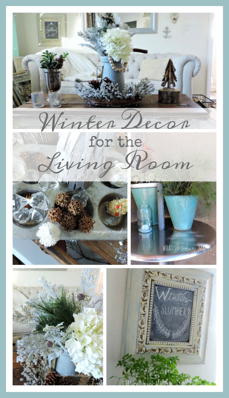 Winter decor for the living room what meegan makes for Decorative accents for living room