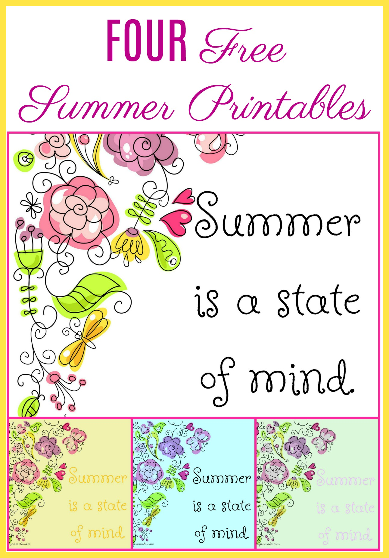 summer is a state of mind what meegan makes - State Printables