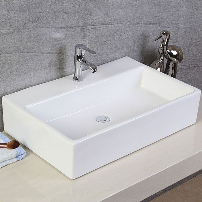 Create a bathroom style all your own what meegan makes for Lavabo rectangular