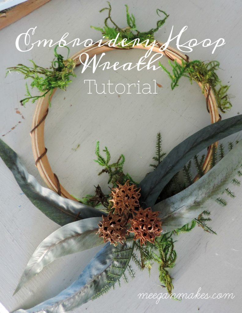 How To Make An Embroidery Hoop Wreath What Meegan Makes