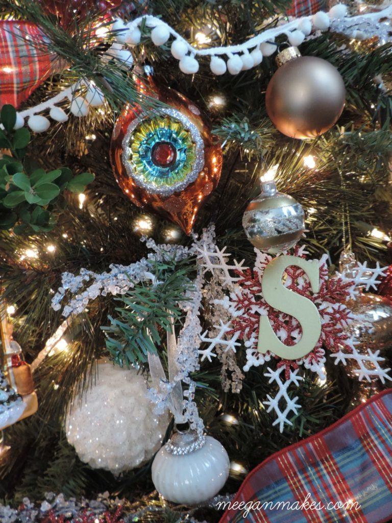 Christmas Tree with DIY Snowflakes