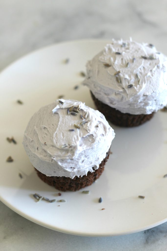 Lavender and Chocolate Cupcakes