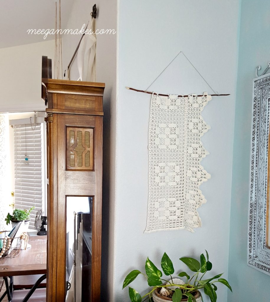 DIY Vintage Crochet Wall Hanging