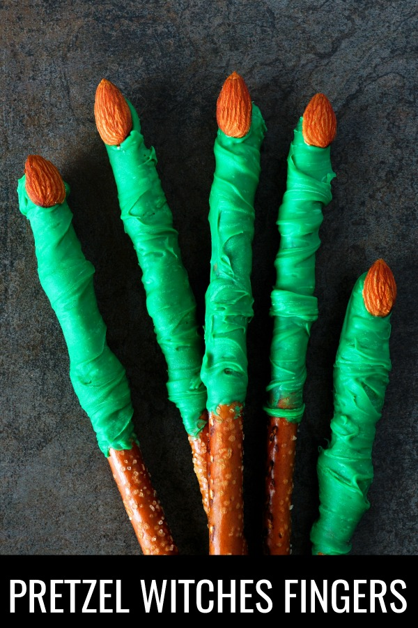 Witch Finger Pretzels